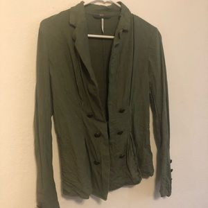 Free People Military Style Blazer